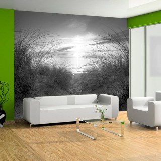 Φωτοταπετσαρία - beach (black and white)
