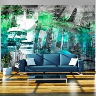 Φωτοταπετσαρία - Berlin - collage (green)