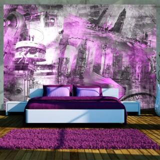 Φωτοταπετσαρία - Berlin - collage (violet)