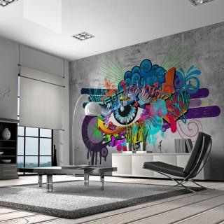 Αυτοκόλλητη φωτοταπετσαρία - Graffiti eye