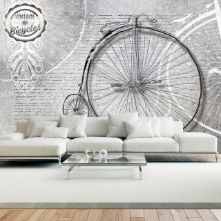 Φωτοταπετσαρία - Vintage bicycles - black and white