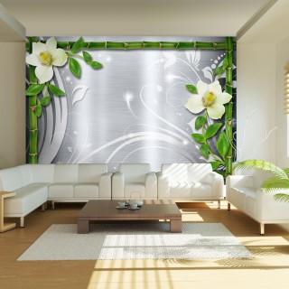 Φωτοταπετσαρία - Bamboo and two orchids
