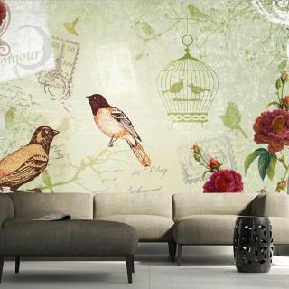 Φωτοταπετσαρία - Vintage birds