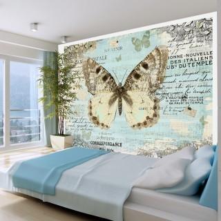 Φωτοταπετσαρία - Postcard with butterfly