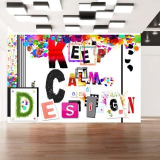 Φωτοταπετσαρία - Keep Calm and Design