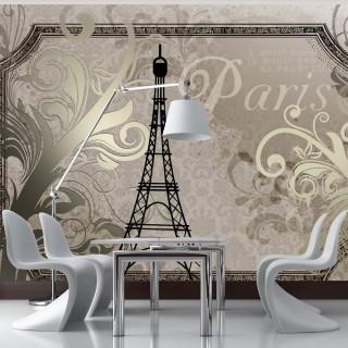 Φωτοταπετσαρία - Vintage Paris - gold