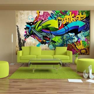 Αυτοκόλλητη φωτοταπετσαρία - Funky - graffiti
