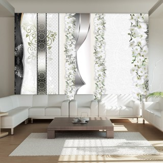 Φωτοταπετσαρία - Parade of orchids in shades of gray