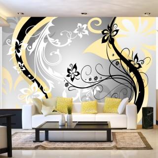 Φωτοταπετσαρία - Art-flowers (yellow)