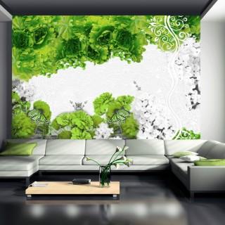 Φωτοταπετσαρία - Colors of spring: green