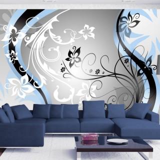 Φωτοταπετσαρία - Art-flowers (blue)