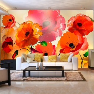 Φωτοταπετσαρία - Velvet poppies
