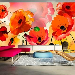 Ταπετσαρία XXL - Velvet poppies