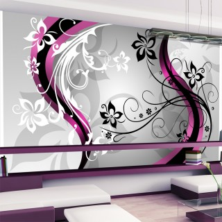Ταπετσαρία XXL - Art-flowers (pink)