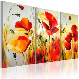 Χειροποίητα ζωγραφισμένος πίνακας - Red meadow