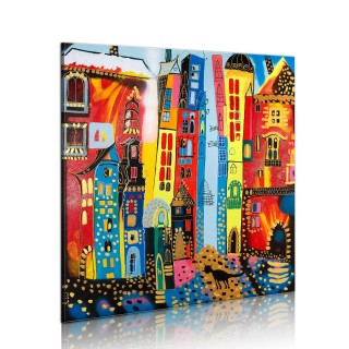 Χειροποίητα ζωγραφισμένος πίνακας - Magic street
