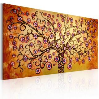 Χειροποίητα ζωγραφισμένος πίνακας - Peacock tree