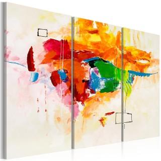 Χειροποίητα ζωγραφισμένος πίνακας - The parrot