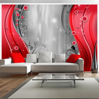 Φωτοταπετσαρία - Behind the curtain of red