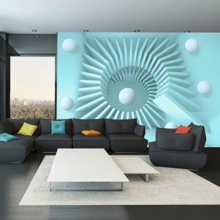 Αυτοκόλλητη φωτοταπετσαρία - Blue maze