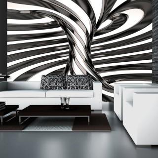 Φωτοταπετσαρία - Black and white swirl