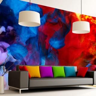 Φωτοταπετσαρία -  Colored flames