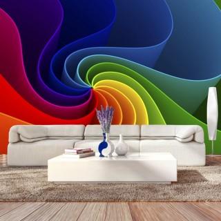Αυτοκόλλητη φωτοταπετσαρία - Colorful Pinwheel