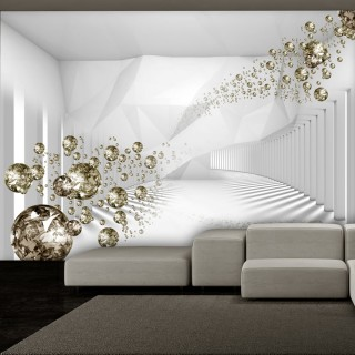 Αυτοκόλλητη φωτοταπετσαρία - Diamond Corridor (Grey)