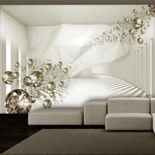 Αυτοκόλλητη φωτοταπετσαρία - Diamond Corridor (Beige)
