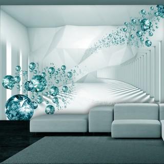 Αυτοκόλλητη φωτοταπετσαρία - Diamond Corridor (Turquoise)