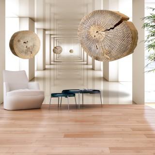 Αυτοκόλλητη φωτοταπετσαρία - Flying Discs of Wood