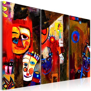 Χειροποίητα ζωγραφισμένος πίνακας - Abstract Carnival