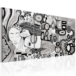 Χειροποίητα ζωγραφισμένος πίνακας - Silver Kiss