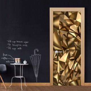 Φωτοταπετσαρία πόρτας - Photo wallpaper - Golden Geometry I