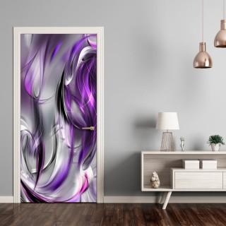 Φωτοταπετσαρία πόρτας - Photo wallpaper – Purple abstraction I