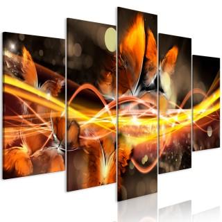 Πίνακας - Swarm of Butterflies (5 Parts) Wide Orange