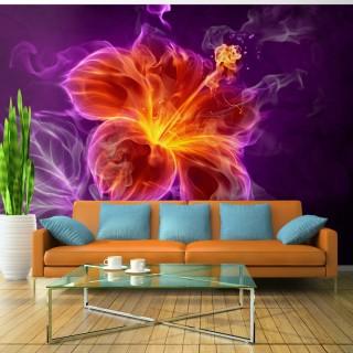 Φωτοταπετσαρία - Fiery flower in purple