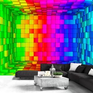 Αυτοκόλλητη φωτοταπετσαρία - Rainbow Cube