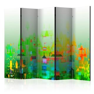 διαχωριστικό με 5 τμήματα - Abstract City II [Room Dividers]