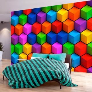 Φωτοταπετσαρία - Colorful Geometric Boxes