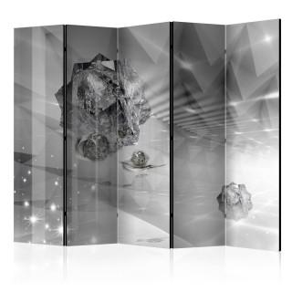 διαχωριστικό με 5 τμήματα - Abstract Greyness II [Room Dividers]