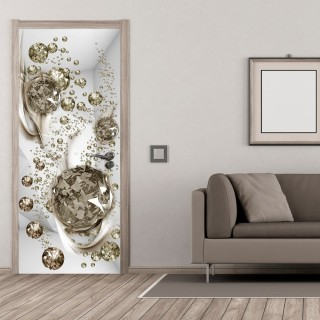 Φωτοταπετσαρία πόρτας - Photo wallpaper - Bubble abstraction I