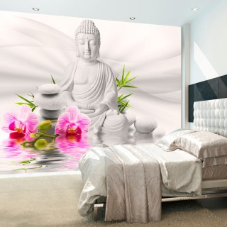Φωτοταπετσαρία - Buddha and Orchids