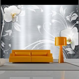 Φωτοταπετσαρία - Orchids on steel