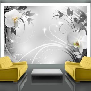 Φωτοταπετσαρία - Orchids on silver