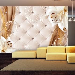 Αυτοκόλλητη φωτοταπετσαρία - Lilies and gold