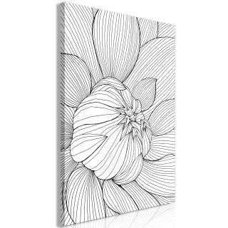 Πίνακας - Flower Line (1 Part) Vertical