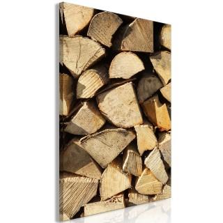 Πίνακας - Beauty of Wood (1 Part) Vertical