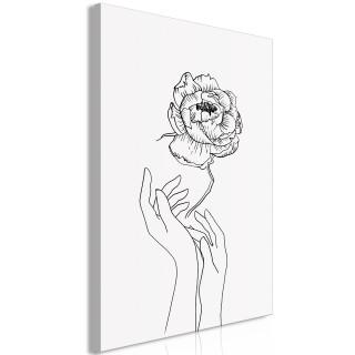 Πίνακας - Delicate Flower (1 Part) Vertical