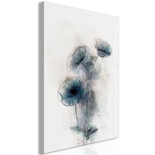 Πίνακας - Blue Poppies (1 Part) Vertical